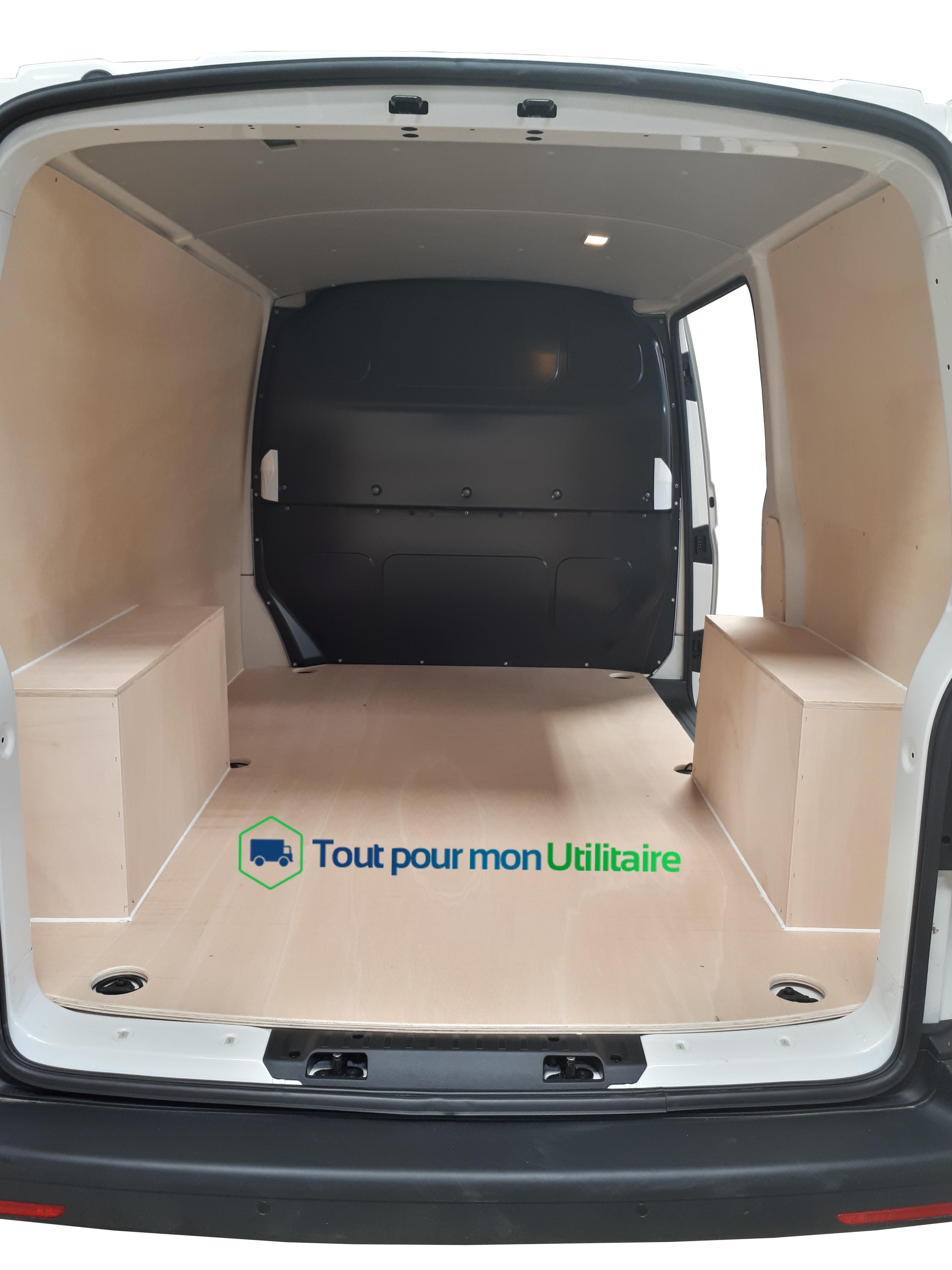 Kit d 39 habillage int rieur bois volkswagen t6 l1h1 2 plc 2 portes arri res pour v hicule - Kit d habillage pour bati de porte ...