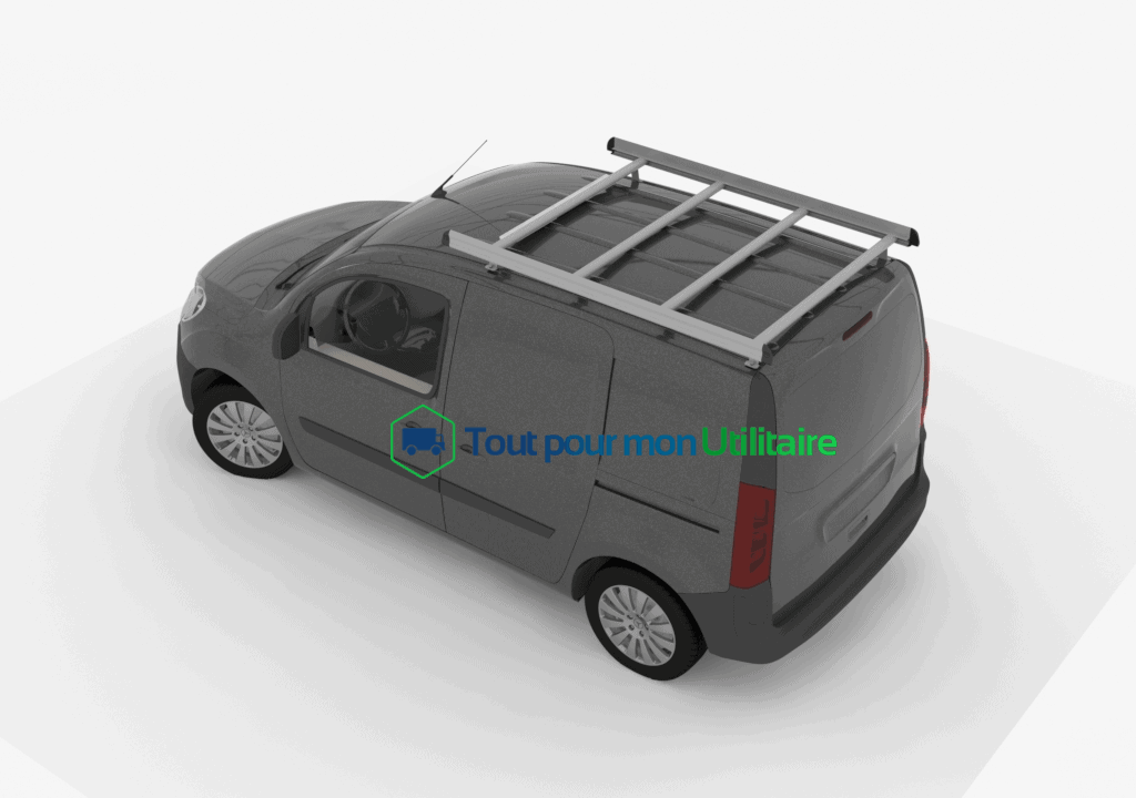 galerie aluminium renault kangoo l2 pour v hicule utilitaire. Black Bedroom Furniture Sets. Home Design Ideas