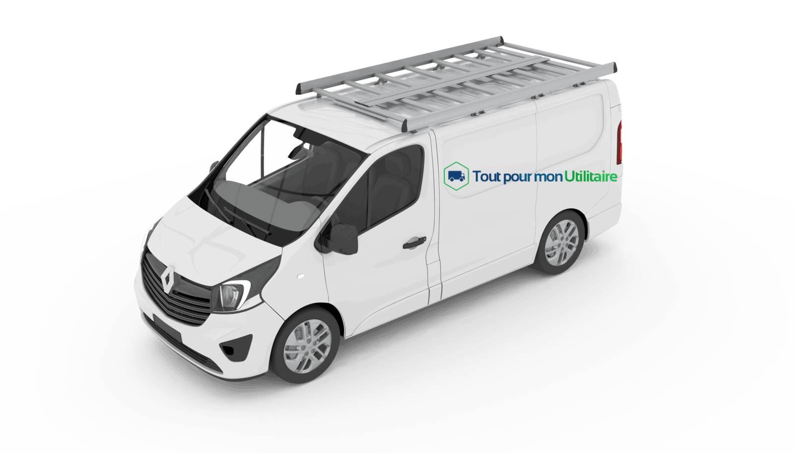 galerie aluminium renault trafic l2h1 pour v hicule utilitaire. Black Bedroom Furniture Sets. Home Design Ideas